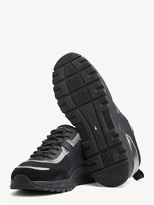 TOMMY HILFIGER Lightweight Metallic Detail Trainers - BLACK - TOMMY HILFIGER NEW IN - detail image 1
