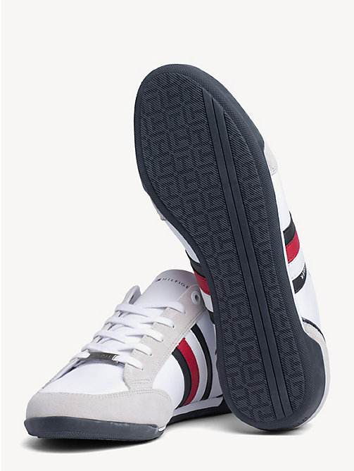 TOMMY HILFIGER Signature Suede Cupsole Trainers - WHITE - TOMMY HILFIGER Trainers - detail image 1