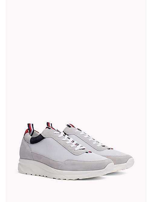 TOMMY HILFIGER Low-Top Sneaker aus Wildleder - WHITE - TOMMY HILFIGER Shoes - main image