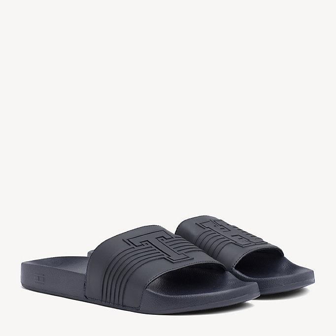 dcd046c51 Striped Pool Slide Sandals. TOMMY HILFIGER