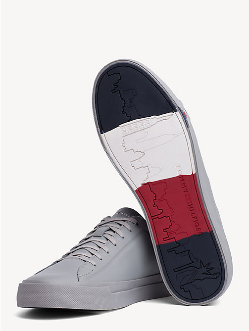 TOMMY HILFIGER Debossed Logo Leather Trainers - GRIFFIN - TOMMY HILFIGER Trainers - detail image 1