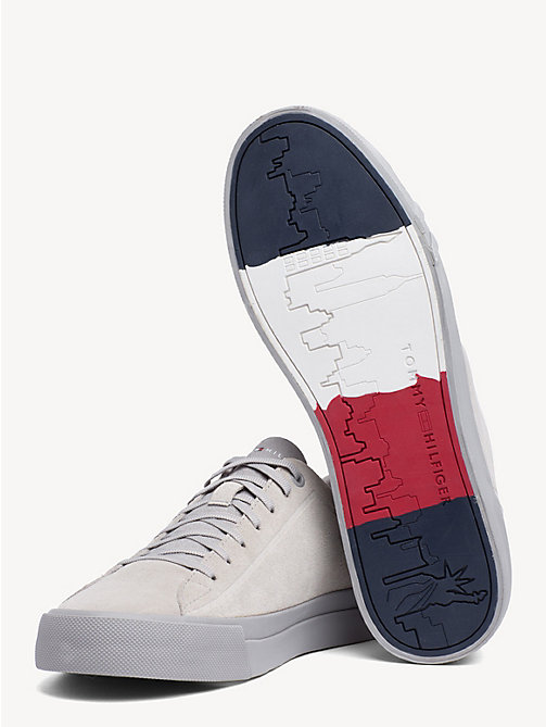 TOMMY HILFIGER Suede Monotone Trainers - DIAMOND GREY - TOMMY HILFIGER Trainers - detail image 1