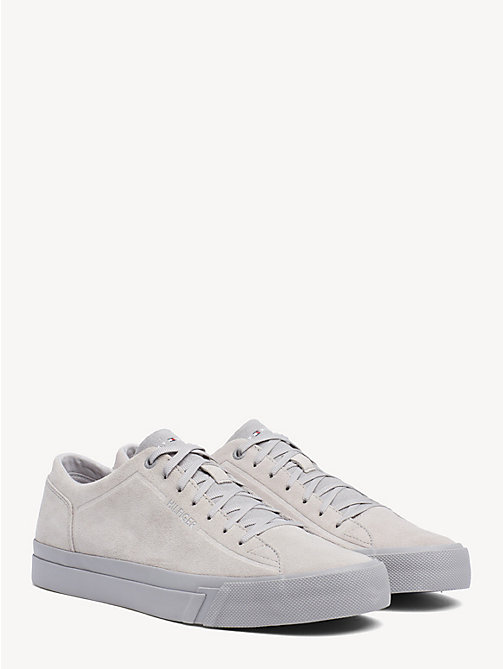 TOMMY HILFIGER Suede Monotone Trainers - DIAMOND GREY - TOMMY HILFIGER Trainers - main image