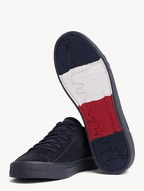 TOMMY HILFIGER Suede Monotone Trainers - MIDNIGHT - TOMMY HILFIGER Trainers - detail image 1