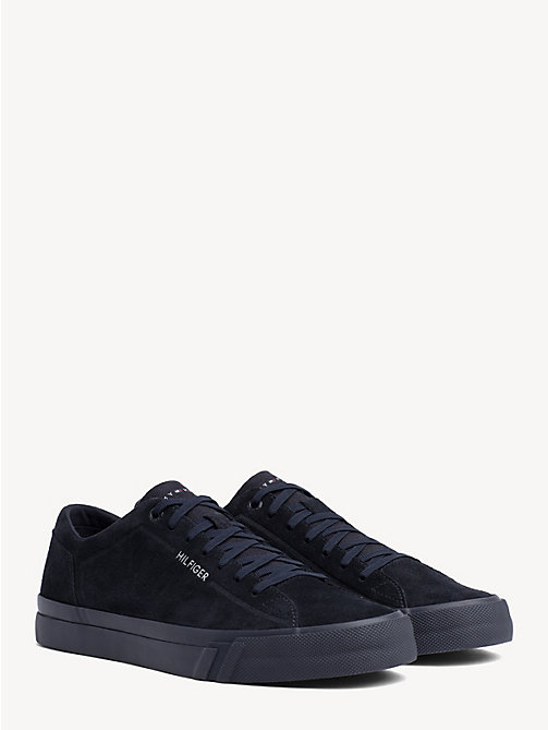TOMMY HILFIGER Suede Monotone Trainers - MIDNIGHT - TOMMY HILFIGER Trainers - main image