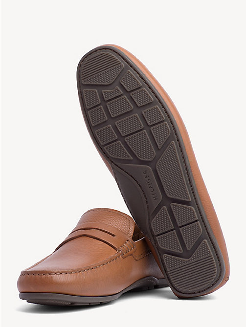 TOMMY HILFIGER Classic Leather Penny Loafers - COGNAC - TOMMY HILFIGER Loafers & Boat Shoes - detail image 1