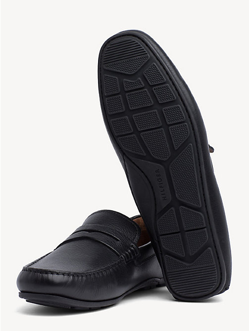 TOMMY HILFIGER Classic Leather Penny Loafers - BLACK - TOMMY HILFIGER Loafers & Boat Shoes - detail image 1