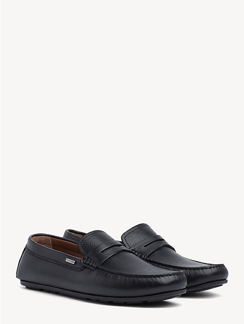 TOMMY HILFIGER Classic Leather Penny Loafers - BLACK - TOMMY HILFIGER Loafers & Boat Shoes - main image
