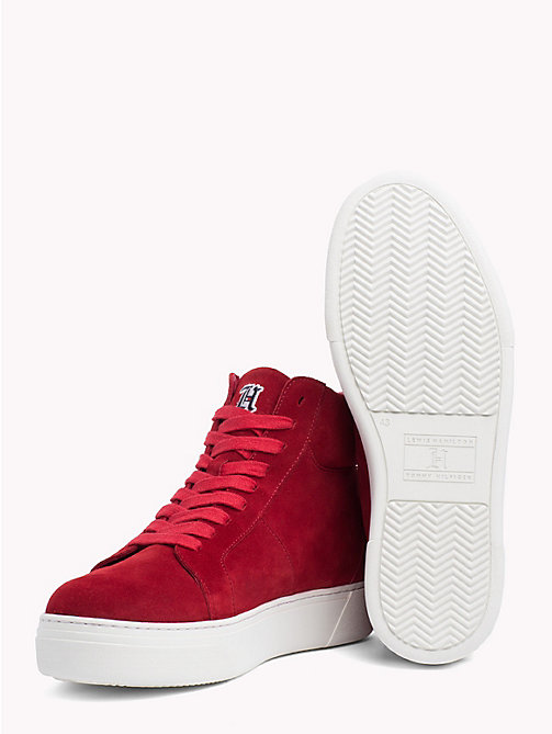 TOMMY HILFIGER Lewis Hamilton Lace-Up Trainers - BARBADOS CHERRY - TOMMY HILFIGER TOMMYXLEWIS - detail image 1