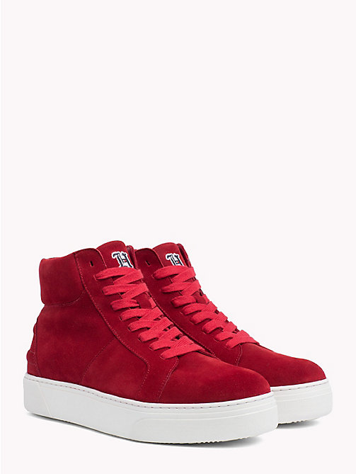 TOMMY HILFIGER Lewis Hamilton Lace-Up Trainers - BARBADOS CHERRY - TOMMY HILFIGER TOMMYXLEWIS - main image