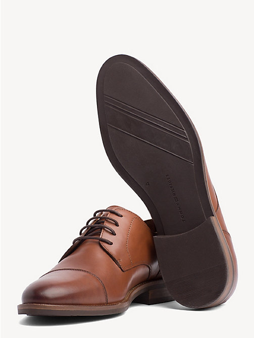 TOMMY HILFIGER Leather Lace-Up Shoes - WINTER COGNAC - TOMMY HILFIGER Formal Shoes - detail image 1