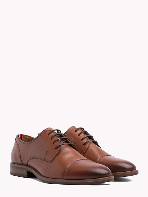 TOMMY HILFIGER Leather Lace-Up Shoes - WINTER COGNAC - TOMMY HILFIGER NEW IN - main image