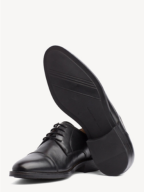 TOMMY HILFIGER Leather Lace-Up Shoes - BLACK - TOMMY HILFIGER NEW IN - detail image 1