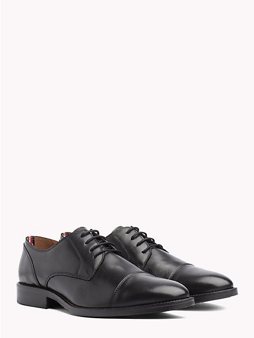 TOMMY HILFIGER Leather Lace-Up Shoes - BLACK - TOMMY HILFIGER NEW IN - main image