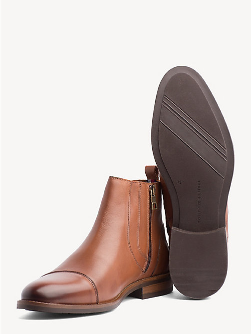 TOMMY HILFIGER Essential Zip-Up Chelsea Boots - WINTER COGNAC - TOMMY HILFIGER Chelsea Boots - detail image 1