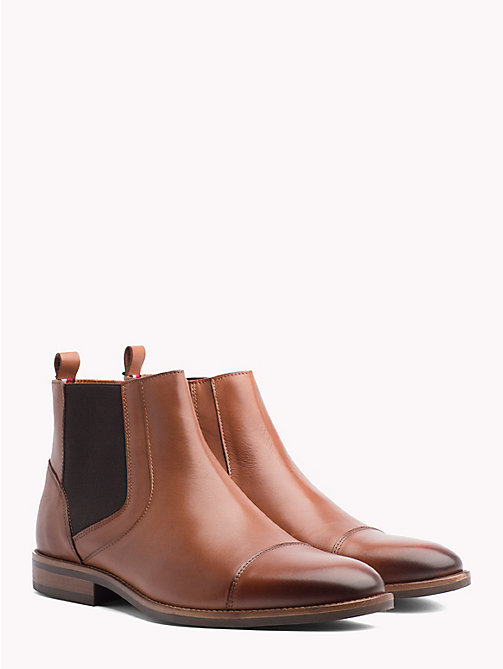 TOMMY HILFIGER Essential Zip-Up Chelsea Boots - WINTER COGNAC - TOMMY HILFIGER NEW IN - main image