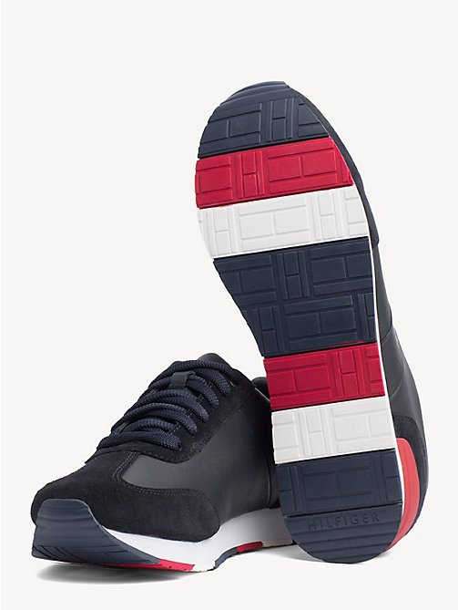TOMMY HILFIGER Suede Colour-Blocked Trainers - MIDNIGHT - TOMMY HILFIGER NEW IN - detail image 1
