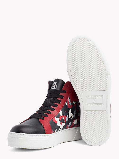 TOMMY HILFIGER Lewis Hamilton Camo Trainers - BLACK-BARBADOS CHERRY-CAMO - TOMMY HILFIGER TOMMYXLEWIS - detail image 1