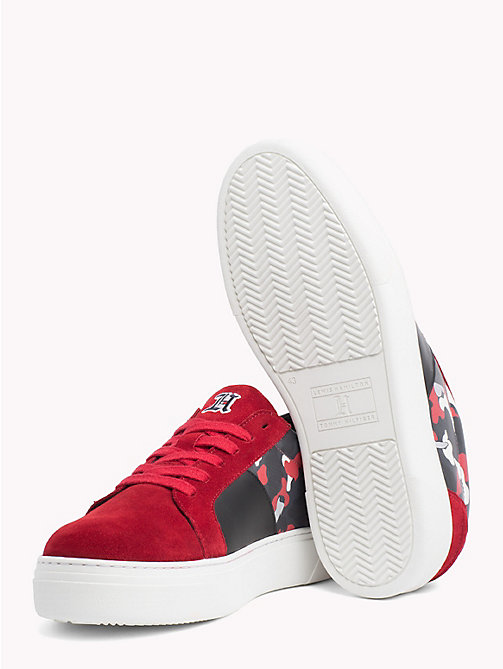 TOMMY HILFIGER Lewis Hamilton Suede Trainers - BARBADOS CHERRY-CAMO - TOMMY HILFIGER TOMMYXLEWIS - detail image 1