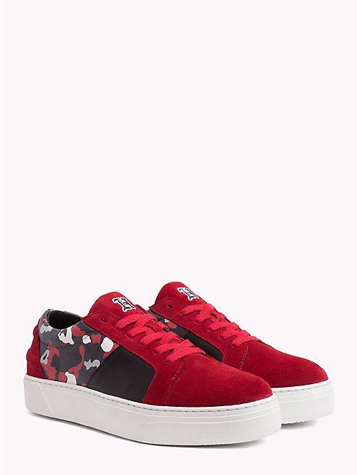 TOMMY HILFIGER Lewis Hamilton Suede Trainers - BARBADOS CHERRY-CAMO - TOMMY HILFIGER TOMMYXLEWIS - main image