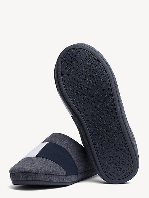 TOMMY HILFIGER Colour-Blocked Cotton Slippers - MAGNET - TOMMY HILFIGER Slippers - detail image 1