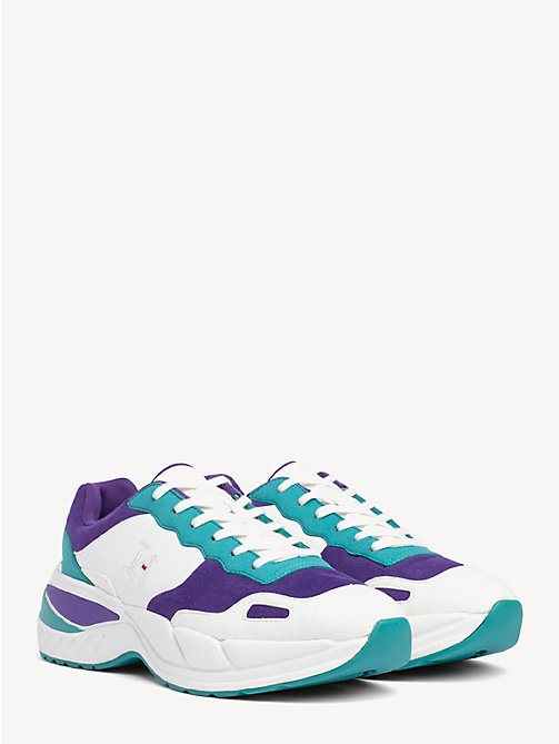 182a791dab3743 TOMMY HILFIGERLewis Hamilton Contrast Panel Trainers. £120.00.  MARSHMELLOW-VIRIDIAN GREEN-PURPLE. x