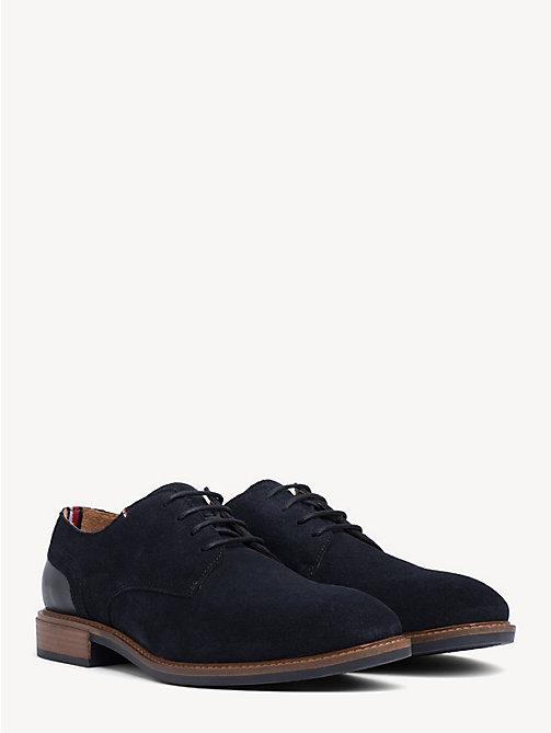 e7e9787e zapatos de ante y piel con cordones blue de hombre tommy hilfiger