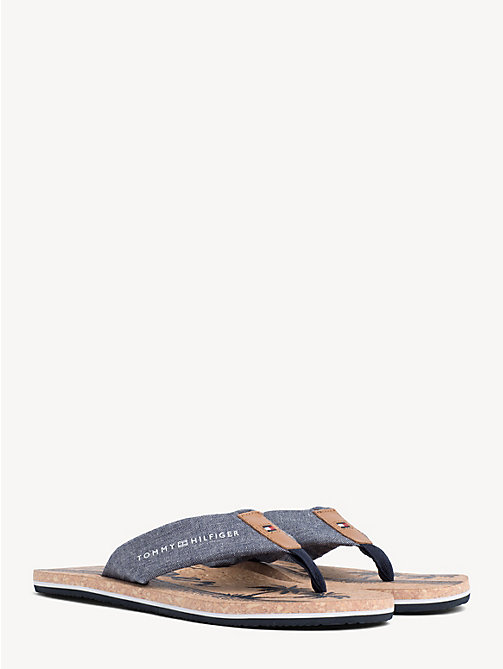 d9be1ea2ada0 TOMMY HILFIGERChambray and Cork Sandals