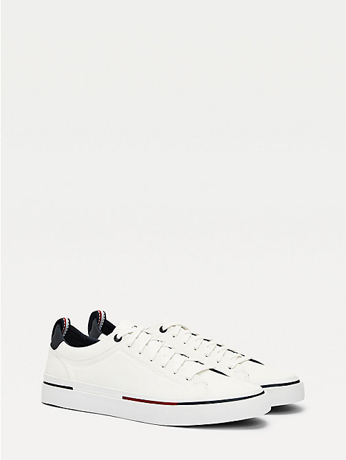 87f1e3c2 white signature lace-up trainers for men tommy hilfiger