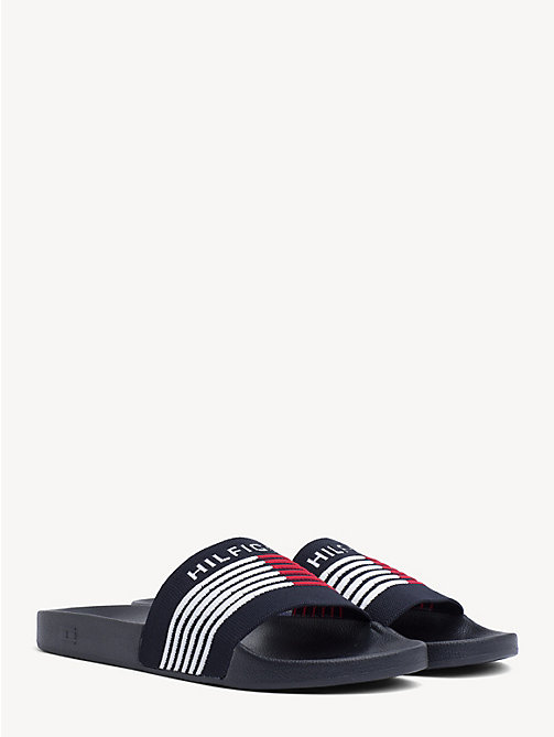 cb0175496 TOMMY HILFIGERSignature Knit Strap Slides. £40.00. NEW