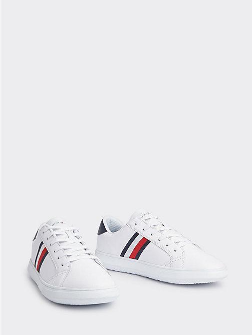 13cbba794d zapatillas deportivas essential de piel white de hombre tommy hilfiger