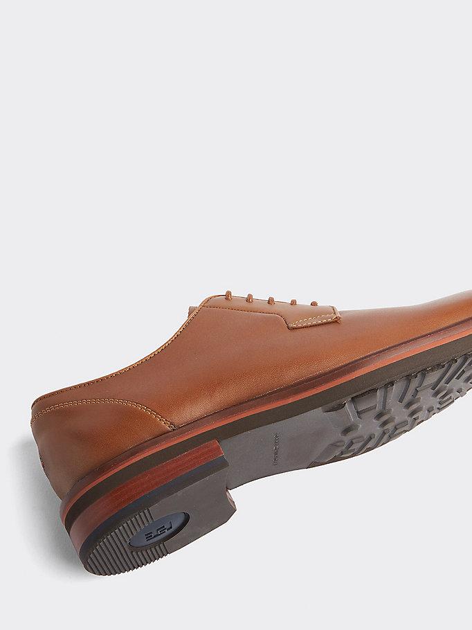 Tommy Hilfiger Elegante Schnürschuh Aus Leder Braun Schuhe