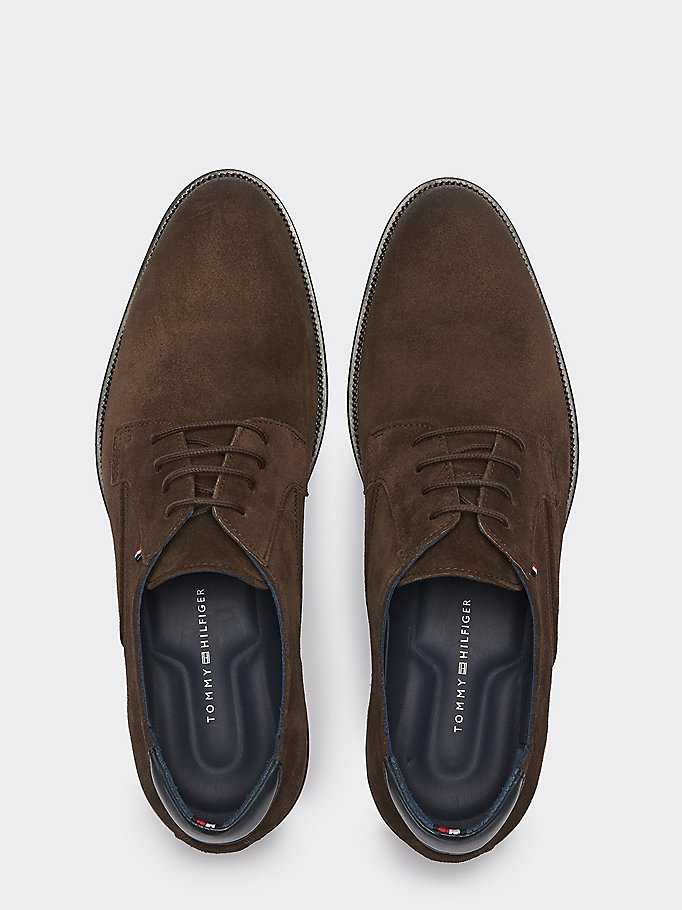 Chaussures signature en daim à lacets | COFFEE BEAN | Tommy