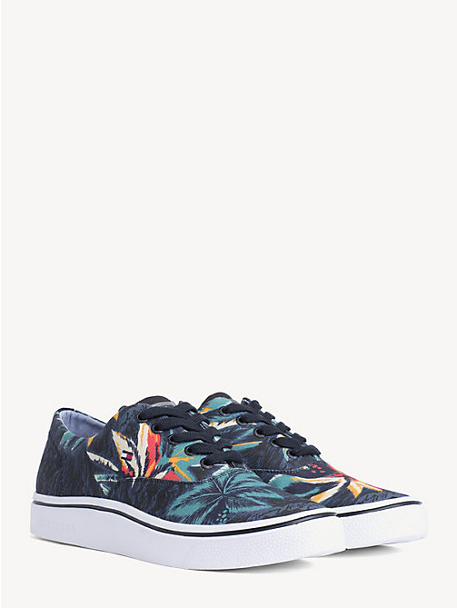 be837eb16 TOMMY HILFIGERTropical Print Lace-Up Trainers