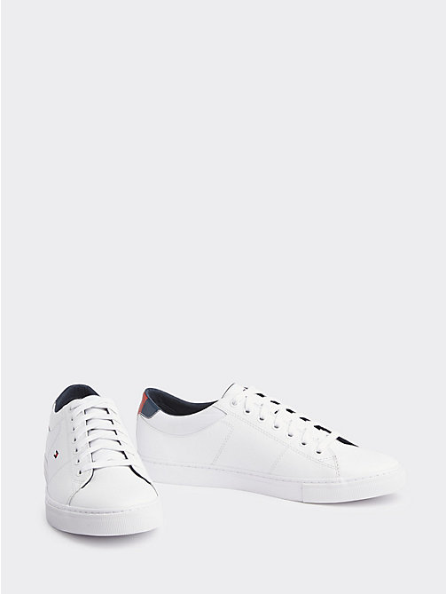 6a8b166d white essential leather trainers for men tommy hilfiger