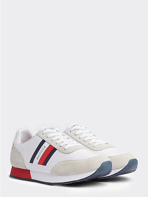Sneakers Tommy Hilfiger Uomo – Scarpe runner sfoderate in pelle white