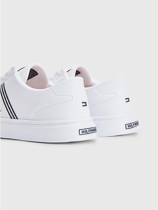 Details zu Tommy Hilfiger Damen Leder Sneaker Farbe rot weiß blau Größe 42 NEU