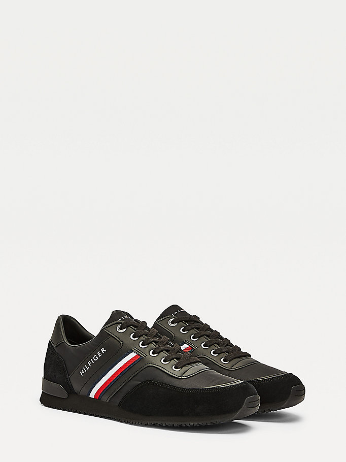 black iconic running trainers for men tommy hilfiger