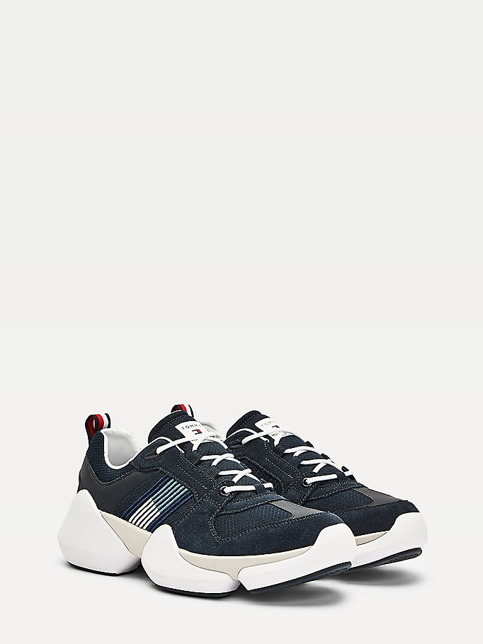 blue chunky bubble trainers for men tommy hilfiger