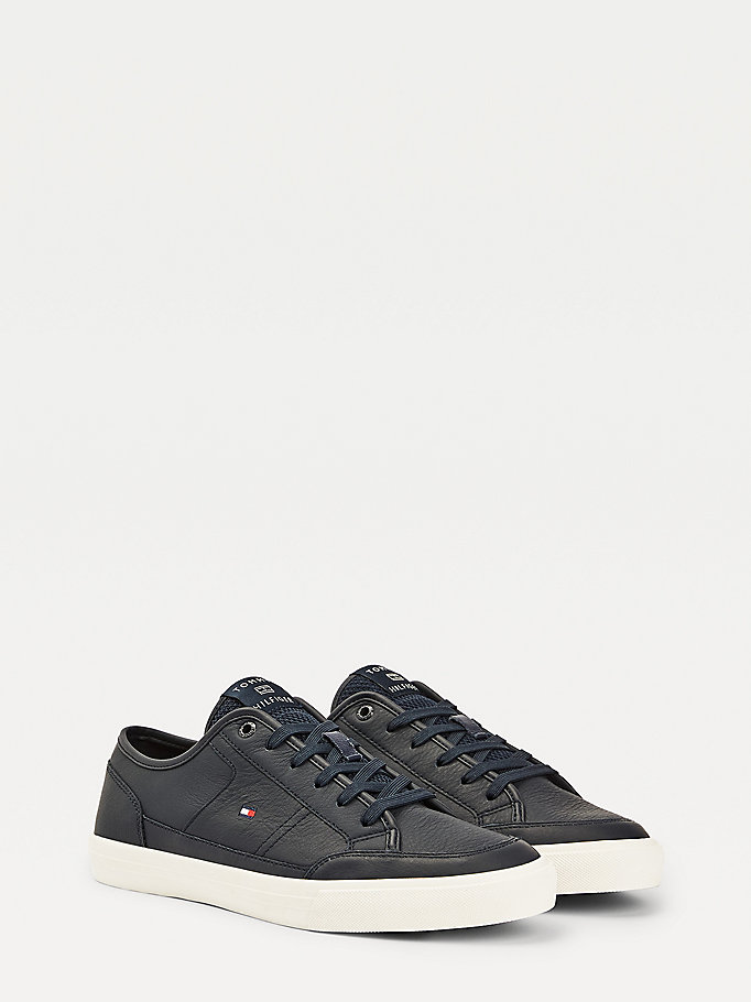 blue signature vulcanised trainers for men tommy hilfiger