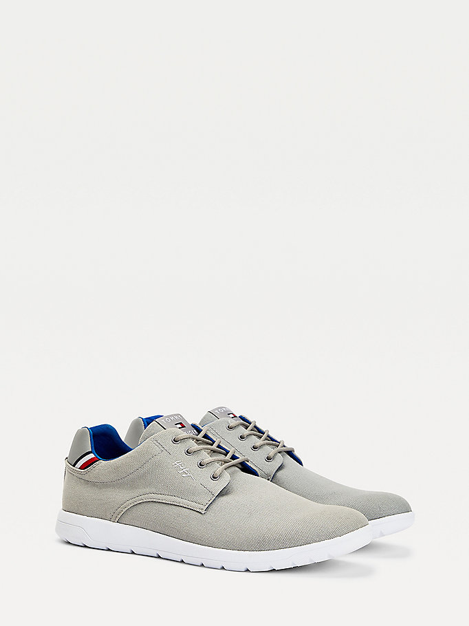 grey recycled organic cotton hybrid shoes for men tommy hilfiger