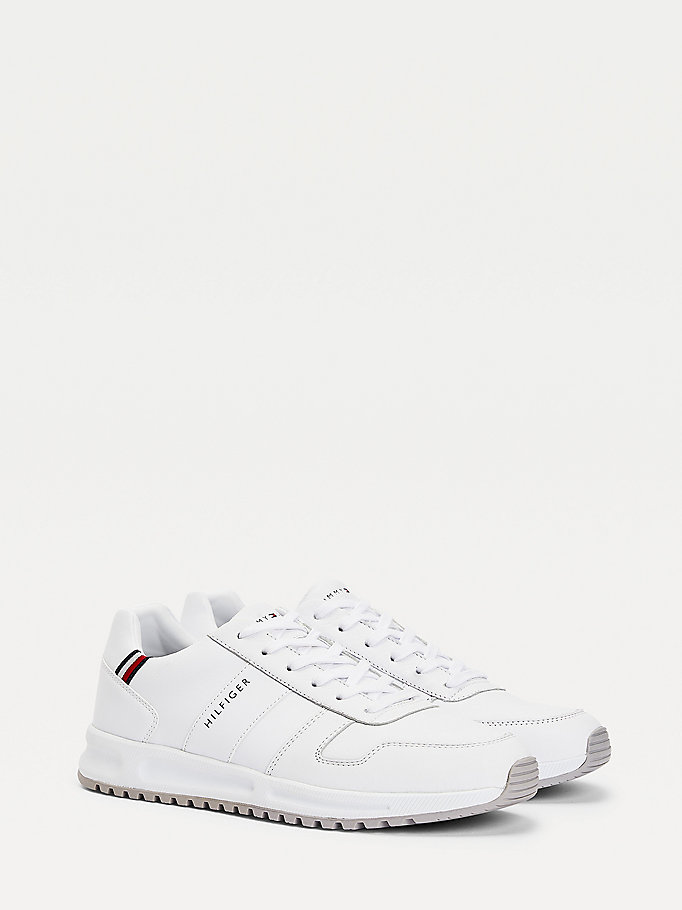 white th modern signature tape trainers for men tommy hilfiger