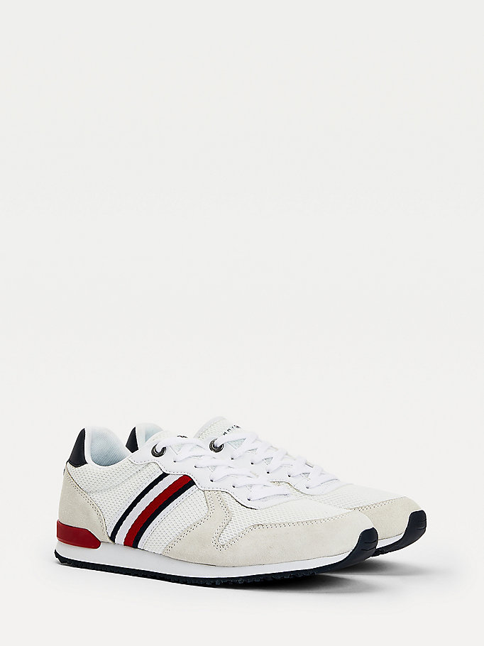 blue iconic trainers for men tommy hilfiger
