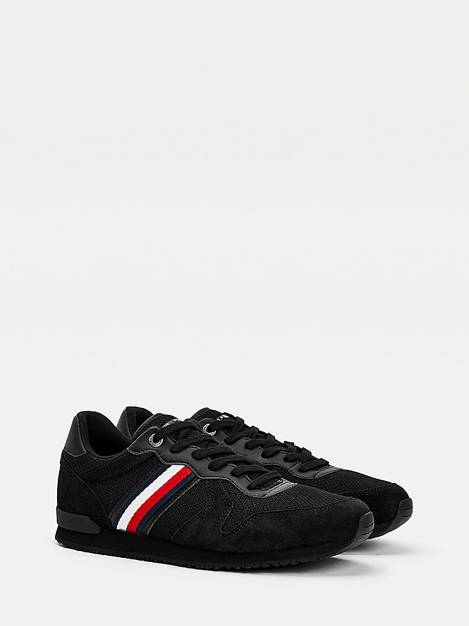 black iconic trainers for men tommy hilfiger