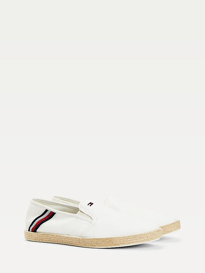 white signature chambray espadrilles for men tommy hilfiger