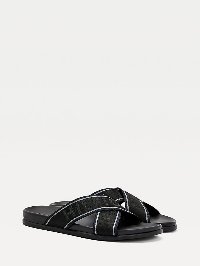 black webbing sandals for men tommy hilfiger