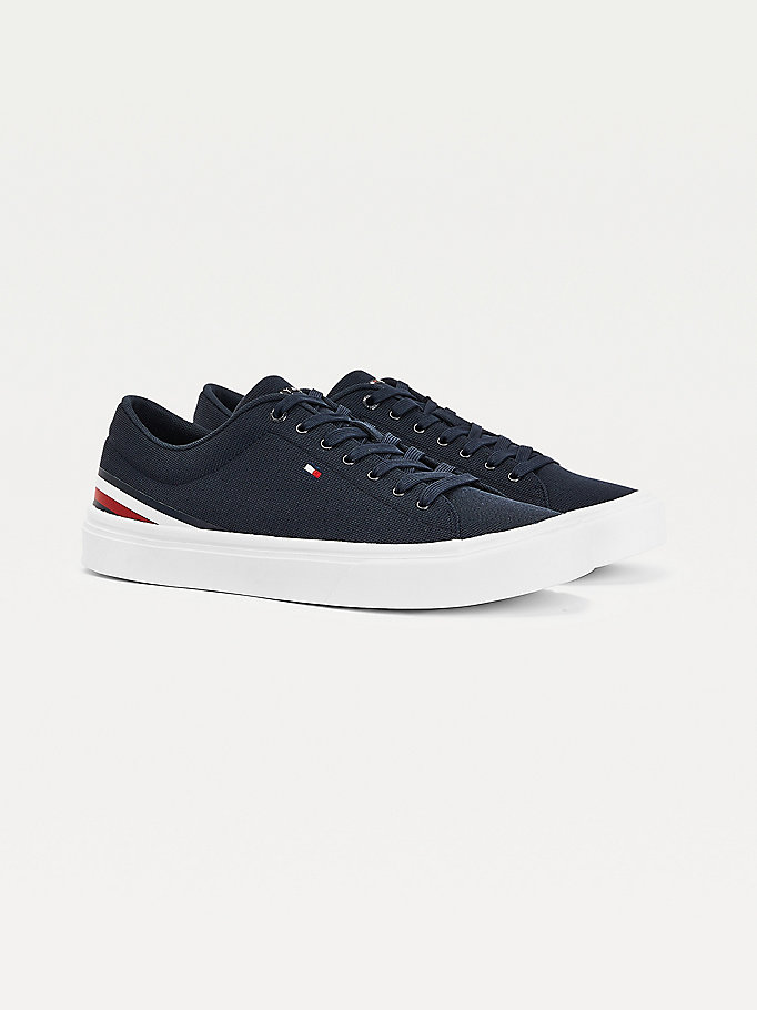 blue signature tape lightweight trainers for men tommy hilfiger