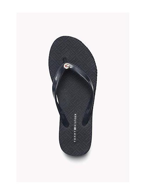 tommy hilfiger pvc flip flops midnight tommy hilfiger shoes. Black Bedroom Furniture Sets. Home Design Ideas