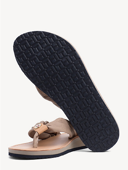 TOMMY HILFIGER Cotton Flip-Flops - COBBLESTONE - TOMMY HILFIGER Shoes - detail image 1