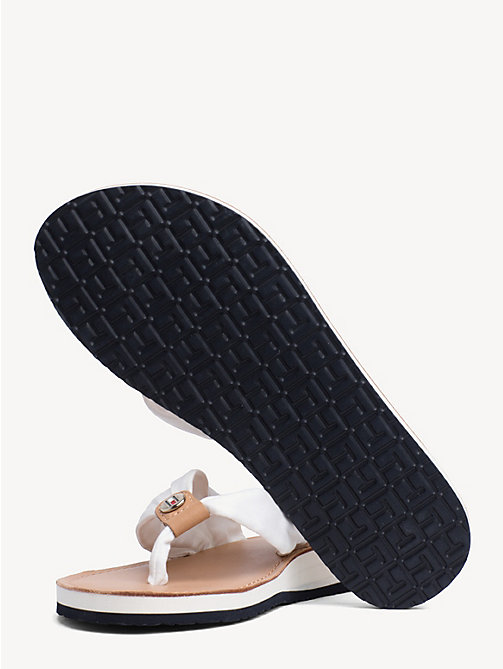 TOMMY HILFIGER Cotton Flip-Flops - WHISPER WHITE - TOMMY HILFIGER Sandals - detail image 1